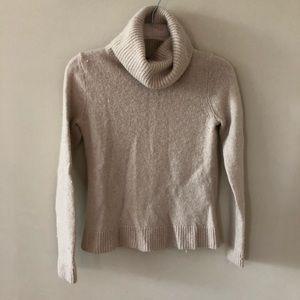 Cream Turtle/ Cowl Neck Sweater
